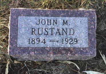 RUSTAND, JOHN M. - Roberts County, South Dakota   JOHN M. RUSTAND - South Dakota Gravestone Photos