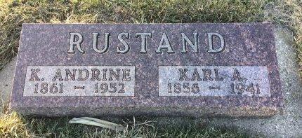 RUSTAND, KARL ANDREAS - Roberts County, South Dakota | KARL ANDREAS RUSTAND - South Dakota Gravestone Photos