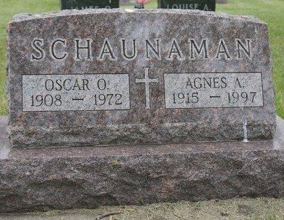 SCHAUNAMAN, AGNES A. - Roberts County, South Dakota   AGNES A. SCHAUNAMAN - South Dakota Gravestone Photos