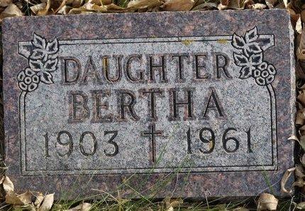 SCHAUNAMAN, BERTHA - Roberts County, South Dakota | BERTHA SCHAUNAMAN - South Dakota Gravestone Photos