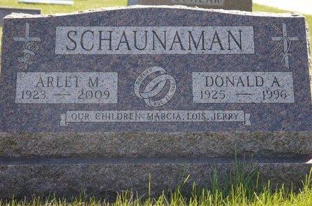 SCHAUNAMAN, DONALD A. - Roberts County, South Dakota | DONALD A. SCHAUNAMAN - South Dakota Gravestone Photos