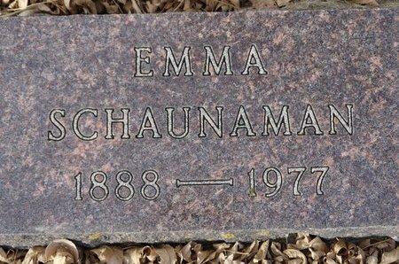 SCHAUNAMAN, EMMA - Roberts County, South Dakota | EMMA SCHAUNAMAN - South Dakota Gravestone Photos