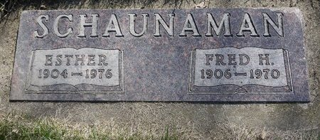 SCHAUNAMAN, FRED H. - Roberts County, South Dakota | FRED H. SCHAUNAMAN - South Dakota Gravestone Photos