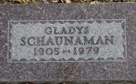 JOHNSON SCHAUNAMAN, GLADYS - Roberts County, South Dakota | GLADYS JOHNSON SCHAUNAMAN - South Dakota Gravestone Photos
