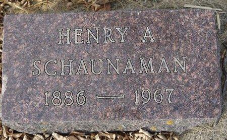 SCHAUNAMAN, HENRY A. - Roberts County, South Dakota   HENRY A. SCHAUNAMAN - South Dakota Gravestone Photos