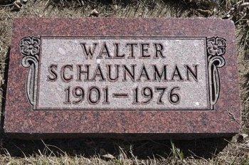 SCHAUNAMAN, WALTER F. - Roberts County, South Dakota   WALTER F. SCHAUNAMAN - South Dakota Gravestone Photos