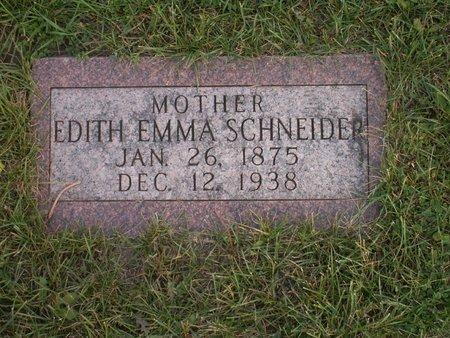 SCHNEIDER, EDITH EMMA - Roberts County, South Dakota | EDITH EMMA SCHNEIDER - South Dakota Gravestone Photos