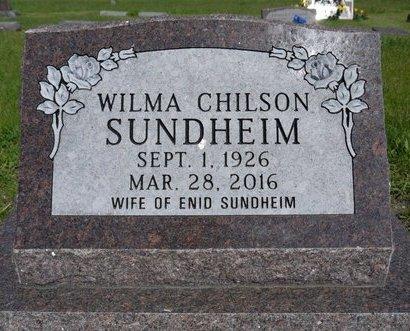 CHILSON SUNDHEIM, WILMA B. - Roberts County, South Dakota | WILMA B. CHILSON SUNDHEIM - South Dakota Gravestone Photos