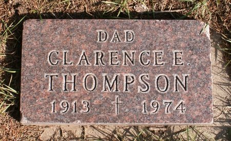 THOMPSON, CLARENCE E. - Roberts County, South Dakota   CLARENCE E. THOMPSON - South Dakota Gravestone Photos
