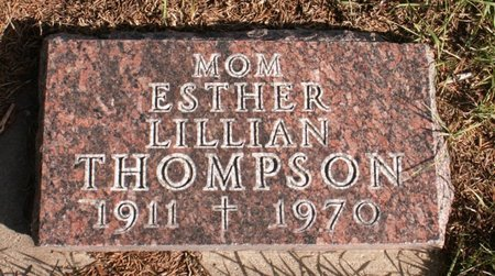 THOMPSON, ESTHER LILLIAN - Roberts County, South Dakota | ESTHER LILLIAN THOMPSON - South Dakota Gravestone Photos