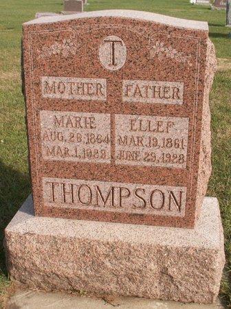 THOMPSON, ELLEF - Roberts County, South Dakota | ELLEF THOMPSON - South Dakota Gravestone Photos
