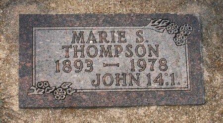 THOMPSON, MARIE S. - Roberts County, South Dakota   MARIE S. THOMPSON - South Dakota Gravestone Photos