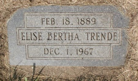 TRENDE, ELISE BERTHA - Roberts County, South Dakota   ELISE BERTHA TRENDE - South Dakota Gravestone Photos