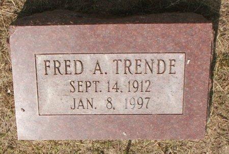 TRENDE, FRED - Roberts County, South Dakota | FRED TRENDE - South Dakota Gravestone Photos