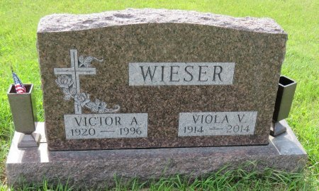 WIESER, VICTOR A. - Roberts County, South Dakota | VICTOR A. WIESER - South Dakota Gravestone Photos