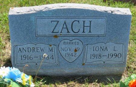 ZACH, IONA L. - Roberts County, South Dakota   IONA L. ZACH - South Dakota Gravestone Photos
