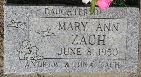 ZACH, MARY  ANN - Roberts County, South Dakota | MARY  ANN ZACH - South Dakota Gravestone Photos