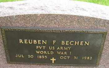 BECHEN, REUBEN F (MIL) - Sanborn County, South Dakota | REUBEN F (MIL) BECHEN - South Dakota Gravestone Photos