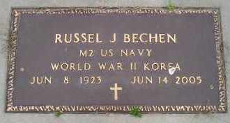 BECHEN, RUSSEL J (MIL) - Sanborn County, South Dakota | RUSSEL J (MIL) BECHEN - South Dakota Gravestone Photos