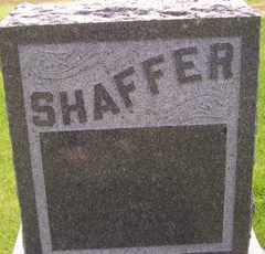 SHAFFER, HEADSTONE - Sanborn County, South Dakota | HEADSTONE SHAFFER - South Dakota Gravestone Photos