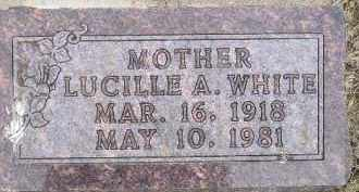 WHITE, LUCILLE A - Sanborn County, South Dakota | LUCILLE A WHITE - South Dakota Gravestone Photos