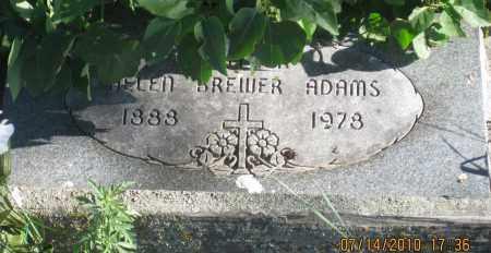 BREWER ADAMS, HELEN - Oglala Lakota County, South Dakota   HELEN BREWER ADAMS - South Dakota Gravestone Photos