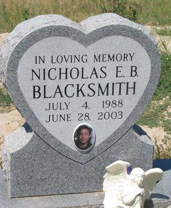 BLACKSMITH, NICHOLAS E.B. - Oglala Lakota County, South Dakota | NICHOLAS E.B. BLACKSMITH - South Dakota Gravestone Photos