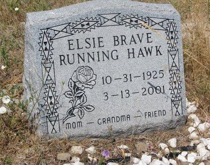 RUNNING HAWK, ELSIE BRAVE - Oglala Lakota County, South Dakota | ELSIE BRAVE RUNNING HAWK - South Dakota Gravestone Photos
