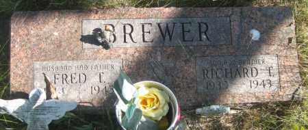 BREWER, FRED T. - Oglala Lakota County, South Dakota | FRED T. BREWER - South Dakota Gravestone Photos