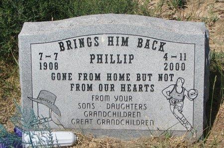 BRINGS HIM BACK, PHILLIP - Oglala Lakota County, South Dakota | PHILLIP BRINGS HIM BACK - South Dakota Gravestone Photos