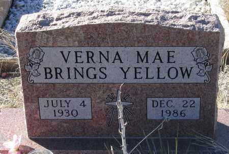 BRINGS YELLOW, VERNA MAE - Oglala Lakota County, South Dakota | VERNA MAE BRINGS YELLOW - South Dakota Gravestone Photos