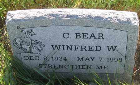 C.BEAR, WINFRED  W. - Oglala Lakota County, South Dakota | WINFRED  W. C.BEAR - South Dakota Gravestone Photos