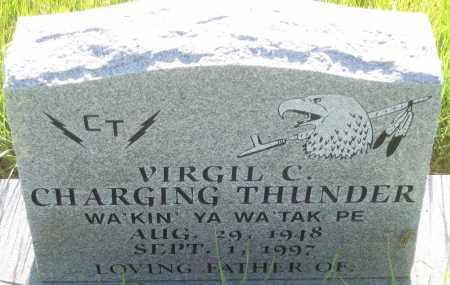 CHARGING THUNDER, VIRGIL  C. - Oglala Lakota County, South Dakota | VIRGIL  C. CHARGING THUNDER - South Dakota Gravestone Photos