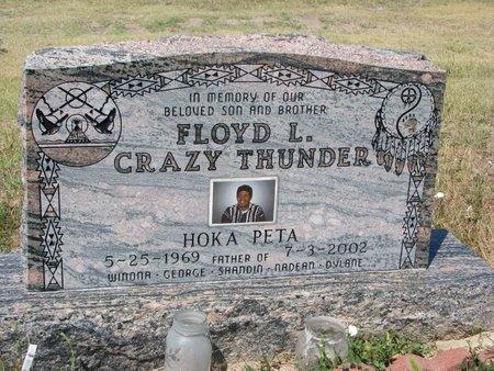 CRAZY THUNDER, FLOYD L. - Oglala Lakota County, South Dakota | FLOYD L. CRAZY THUNDER - South Dakota Gravestone Photos