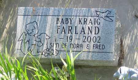 FARLAND, KRAIG - Oglala Lakota County, South Dakota | KRAIG FARLAND - South Dakota Gravestone Photos
