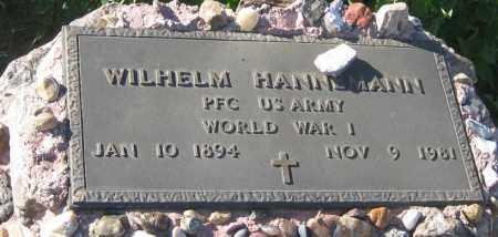 HANNEMANN, WILHELM - Oglala Lakota County, South Dakota   WILHELM HANNEMANN - South Dakota Gravestone Photos