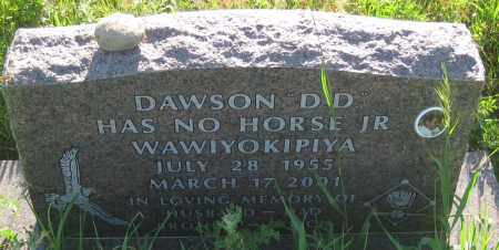 "HAS NO HORSE,JR, DAWSON  ""D.D."" - Oglala Lakota County, South Dakota   DAWSON  ""D.D."" HAS NO HORSE,JR - South Dakota Gravestone Photos"