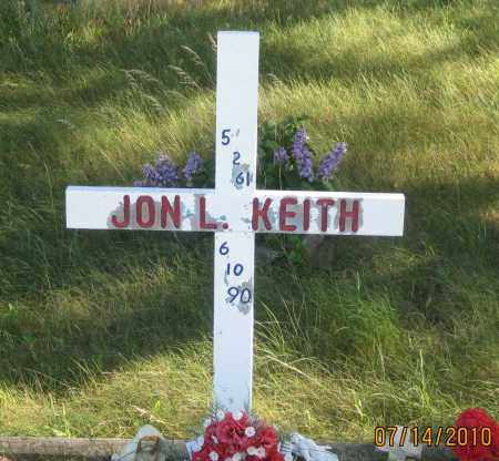 KEITH, JON  L. - Oglala Lakota County, South Dakota | JON  L. KEITH - South Dakota Gravestone Photos