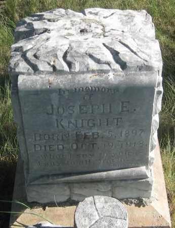KNIGHT, JOSEPH  E. - Oglala Lakota County, South Dakota   JOSEPH  E. KNIGHT - South Dakota Gravestone Photos