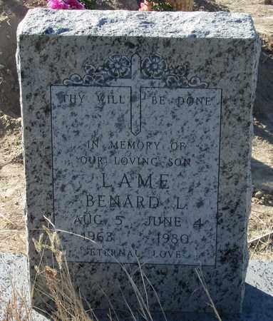 LAME, BENARD L; - Oglala Lakota County, South Dakota   BENARD L; LAME - South Dakota Gravestone Photos