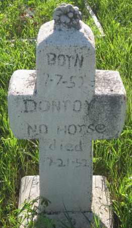 NO HORSE, DONTOY - Oglala Lakota County, South Dakota | DONTOY NO HORSE - South Dakota Gravestone Photos