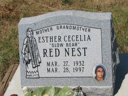 "RED NEST, ESTHER CECELIA ""SLOW BEAR"" - Oglala Lakota County, South Dakota   ESTHER CECELIA ""SLOW BEAR"" RED NEST - South Dakota Gravestone Photos"