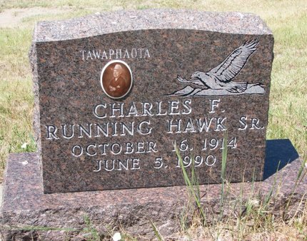 RUNNING HAWK, CHARLES F. SR. - Oglala Lakota County, South Dakota | CHARLES F. SR. RUNNING HAWK - South Dakota Gravestone Photos