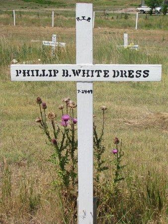 WHITE DRESS, PHILLIP B. - Oglala Lakota County, South Dakota | PHILLIP B. WHITE DRESS - South Dakota Gravestone Photos