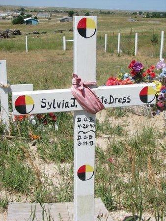 WHITE DRESS, SYLVIA J. - Oglala Lakota County, South Dakota   SYLVIA J. WHITE DRESS - South Dakota Gravestone Photos