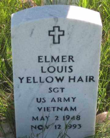 YELLOW HAIR, ELMER LOUIS - Oglala Lakota County, South Dakota   ELMER LOUIS YELLOW HAIR - South Dakota Gravestone Photos