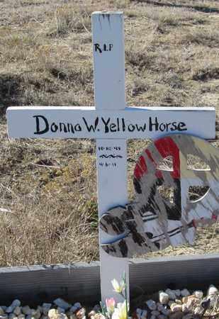 YELLOW HORSE, DONNA  W. - Oglala Lakota County, South Dakota | DONNA  W. YELLOW HORSE - South Dakota Gravestone Photos