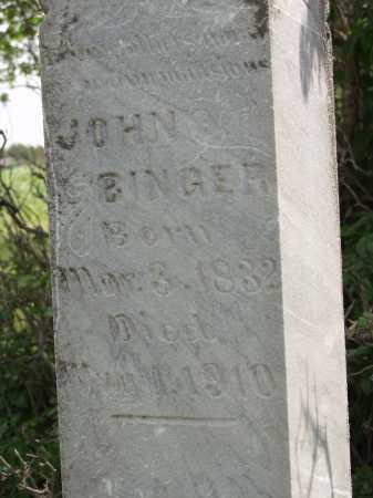 BINGER, JOHN - Spink County, South Dakota | JOHN BINGER - South Dakota Gravestone Photos