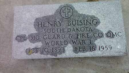 BUISING, HENRY (MILITARY) - Spink County, South Dakota | HENRY (MILITARY) BUISING - South Dakota Gravestone Photos
