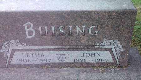 BUISING, JOHN - Spink County, South Dakota | JOHN BUISING - South Dakota Gravestone Photos